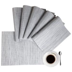 Placemats Place Mat Gray Table Mats 6 Non Slip